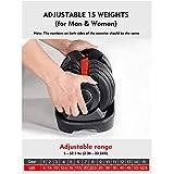 WGYAML Adjustable Dumbbell, Fast Adjust Weight