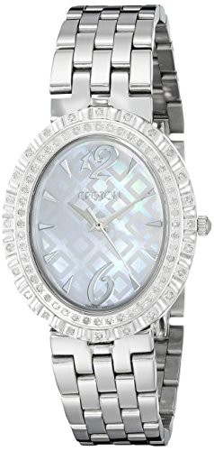 CROTON Women's CN207507SSMP Ballroom Analog Display Quartz Silver Watch Croton Womens Mother Of Pearl