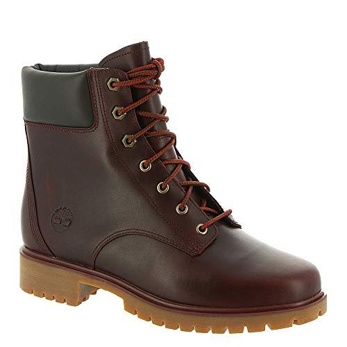 Ankle Timberland Boot Women (Timberland Jayne 6in Waterproof Boot - Women's Burgundy Full Grain, 7.5)