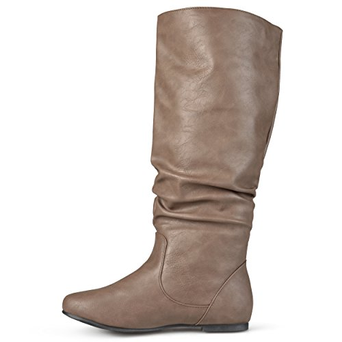 Regular Slouch Riding and Calf Journee Boots Sized Calf Collection Wide Taupe Womens Mid q6zxHUwE