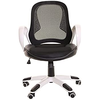 timeoffice ergonomic low back adjustable height chair black mesh leather swivel task chair with arms u0026 upholstered seat u2013 blackwhite
