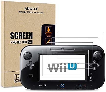 (Pack of 4) Screen Protector for Nintendo Wii U Gamepad, Akwox Ultra Clear HD Screen Protective Filter for Nintendo Wii U Gamepad with Anti-Bubble and Anti-Fingerprint