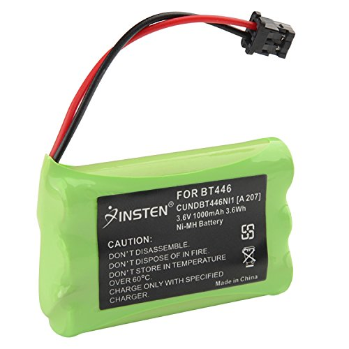 INSTEN 2x 3.6V 1000mAh BT446 Battery Compatible with Uniden Cordless - Amp 5.8 Ghz Cordless