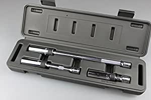 """Kaupa Swivel Spark Plug Socket 5/8"""" Magnetic Swivel Spark Plug Socket Kit 4"""", 6"""" & 11"""" long, 3 piece Magnetic Universal Spark Plug Service Kit, 5/8-inch"""