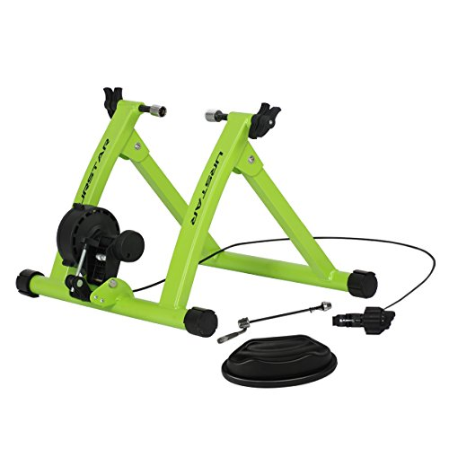 URSTAR Bike Trainer Stand Exercise Bicycle Stand Indoor Riding Strong and Reduce Noise (Green)