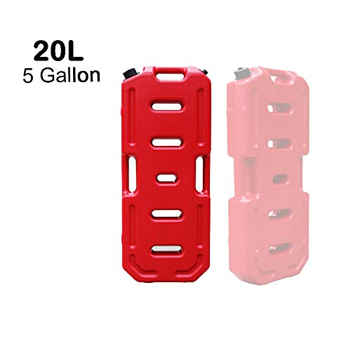 - SXMA Fuel Tank Cans Spare 5 Gallon Portable Fuel Oil Petrol Diesel Storage Gas Tank Emergency Backup for Jeep JK Wrangler SUV ATV Car Motorcyc Toyota ect Most Cars (Pack of 1) (Red)