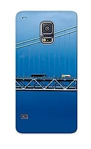 Jfizil-4082-wuhlkob Case Cover Riverboatbridgecarskybirdslandscape Compatible With Galaxy S5 Protective Case