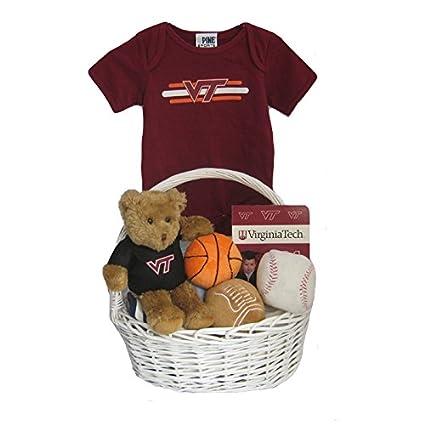 Amazon.com: Virginia Tech cesta regalo bebé * * * Touchdown ...