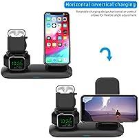 SIMPFUN Cargador Inalámbrico, 3 en 1 Estación de Carga Rápida Qi Soporte de Carga para Apple iWatch Series 321, AirPods 2, iPhone 11XSXR8,