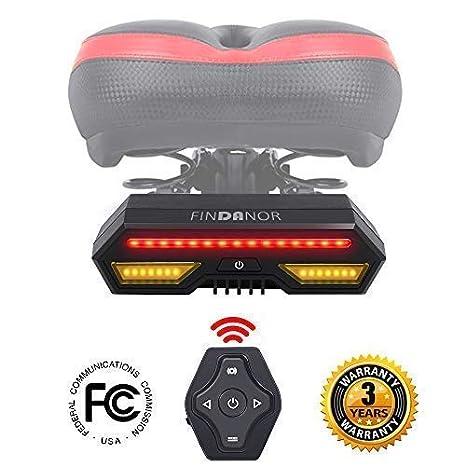 a2c29050054 FINDANOR Bike Turn Signals, Upgrated Wireless Remote Control Bike Tail Light,  Safety Bike Brake