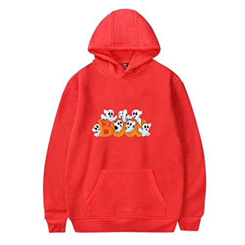 Loom Bands Halloween Ghost (MmNote Men's Funny Ghost Print Long Sleeve Halloween Pullover Hooded Sweatshirts in 6 Colors. Sizes: S-4XL)