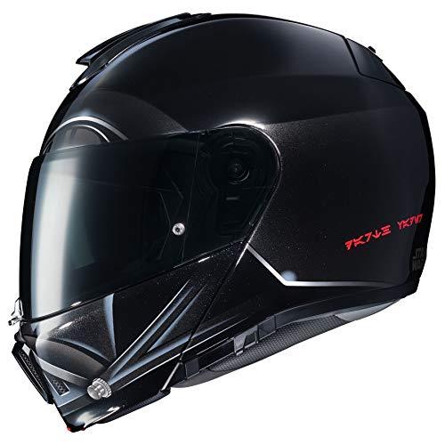 HJC Star Wars Unisex-Adult Modular Darth Vader Graphic Motorcycle Helmet (Black, Large)