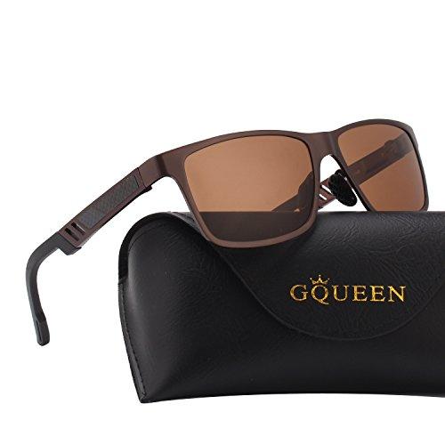 UV400 Marrã³n de protección MS0 1 Marrã³n polarizadas Retro Caminante GQUEEN Bastidor gafas hombres Mg Al sol 0Pwn1U6qS