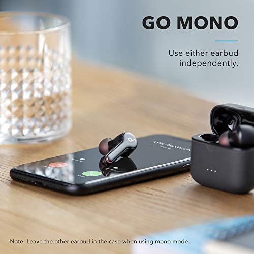 Anker Soundcore Liberty Air 2 Wireless Earbuds, Diamond-Inspired Drivers, Bluetooth Earphones, 4 Mics, Noise Reduction, 28H Playtime, HearID, Bluetooth 5, Wireless Charging, for Calls, Home Office
