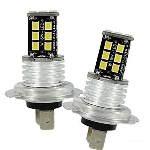 KaTur 15SMD Canbus H7/2/x CREE 3535/LED auto bianco nebbia DRL luce 800LM