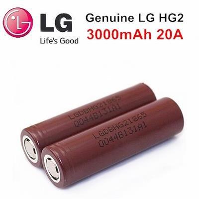 (LG HG2 3000 mAh 20A Battery)