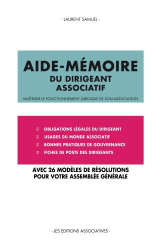 39ac6001b90 Aide-mémoire juridique du dirigeant associatif (French Edition) by  Samuel