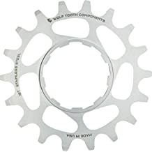 "Wolf Tooth Components Single Speed Stainless Steel Cog: 18T, Compatible with 3/32"" Chains"
