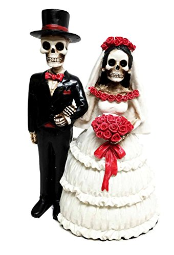 DAY OF THE DEAD CLASSIC WEDDING SKELETON COUPLE STATUE FIGURE DIA DE LOS (All Saints Day And Halloween Connection)