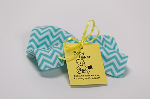 Baby Paper – Crinkly Baby Toy – Turquoise Zig Zag