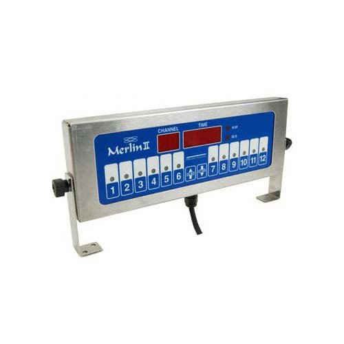 (PRINCE CASTLE Merlin II 12-Channel Single-Function Timer 1 second to 18 hour countdown 740T12)