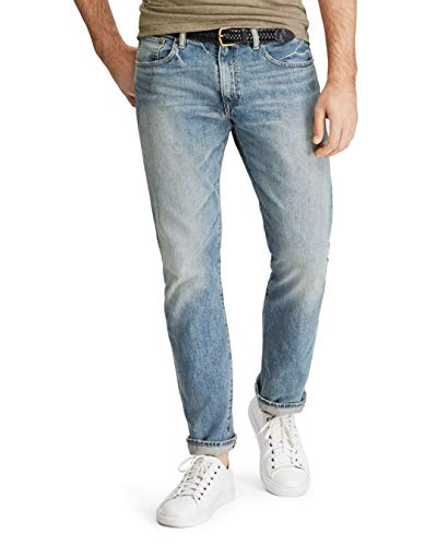 Polo Ralph Lauren Men's Hampton Straight Jeans, Size 42x30, Blue Denim