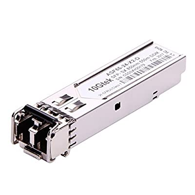 10Gtek for Ubiquiti UF-MM-1G EdgeSwitch/EdgeRouter Transceiver, 1.25Gb/s SFP Module, MMF, 850nm, 550m, Pack of 2