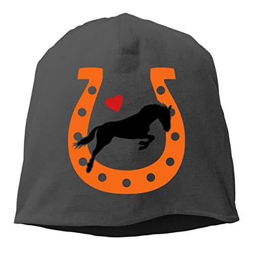 Horse Love Horseshoe Women's Skull Hat Beanie ()