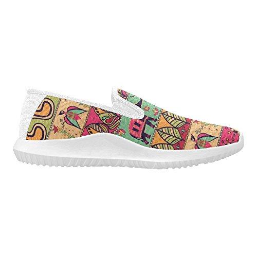 Modello Gorgeous Di Interestprint Nello Stile Tribale Della Boemia Delle Donne Mocassini Slip-on Scarpe Di Tela Sneakers Multi Moda 1