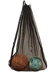 DoGeek Mesh Ball Bag Large Sport con Coulisse, Borsa portaoggetti di stoccaggio di Palline, Sacchetto di Rete