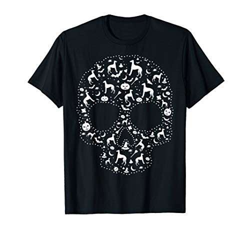 (Pooch Sugar Skull T-shirt cute Italian Greyhound)