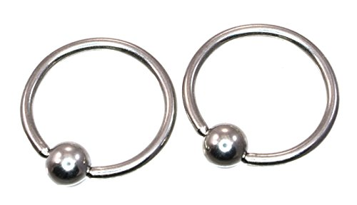 Captive Bead Ring 16GA 7/16 Implant Grade 316L Surgical Steel Multi Utility Piercing CBR 915 - Lip Kix