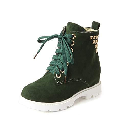 Green Informal Redonda de Interno de Mujer Zapatos de Cabeza Aumento zxYwq4