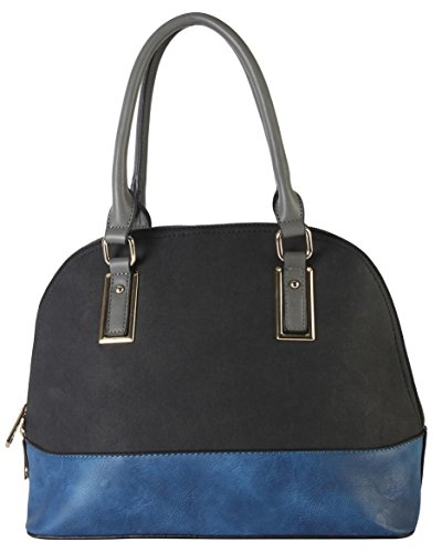 diophy-pu-leather-two-tone-shell-shape-tote-accented-with-removable-strap-womens-purse-handbag-cl-35