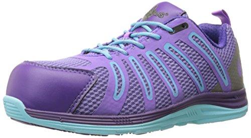 Nautilus 1792 Carbon Composite Fiber Toe Super Light Weight Slip Resistant EH Safety Shoe, Purple, 11 M US
