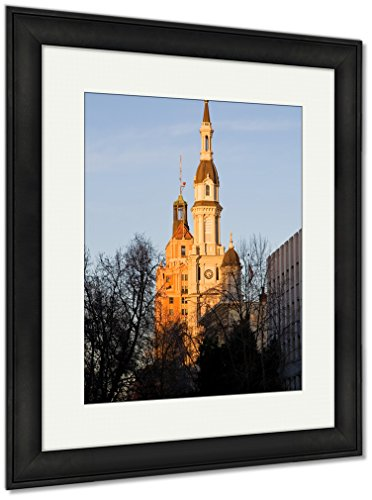 Ashley Framed Prints Catholic Church At Sunset, Wall Art Home Decoration, Color, 40x34 (frame size), Black Frame, AG6512932 by Ashley Framed Prints