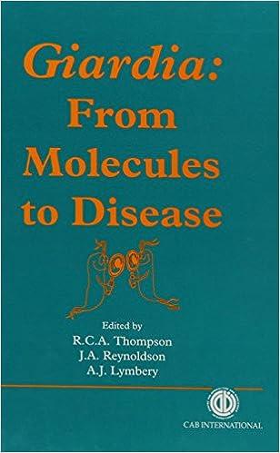 Book Giardia: From Molecules to Disease
