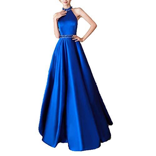 Largo Blue Elegante Niais De Las Vestido Mujeres Del Damas Honor Y 4pnvUq