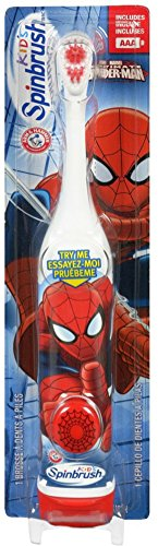 ARM & HAMMER Kid's Spinbrush Spiderman 1 Each (Pack of 6) Designs May Vary
