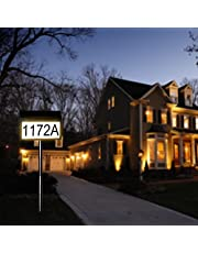Solar Lighted Address Numbers Sign for Outside,LED Illuminated House Address Numbers Sign,Waterproof Address Sign for for Yard, Garden Houses&Home,Height 35 Inches,1 Pack