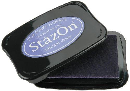 Tsukineko Full-Size StazOn Multi-Surface Inkpad, Vibrant Violet