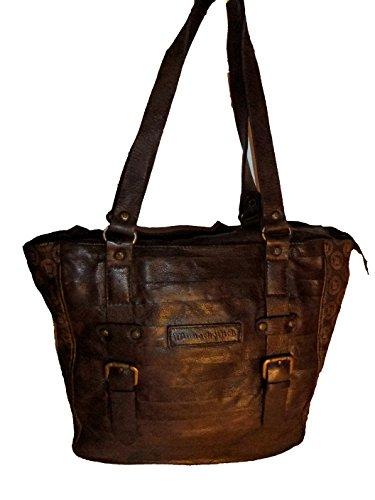 a77a67c5fd5cf Wunschstück Damen Shopper Leder Bonito 2016000592 dunkelbraun ...