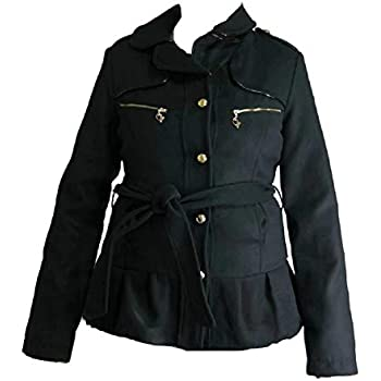 Amazon.com: Baby Phat Wool Winter Coat in black (4XLarge