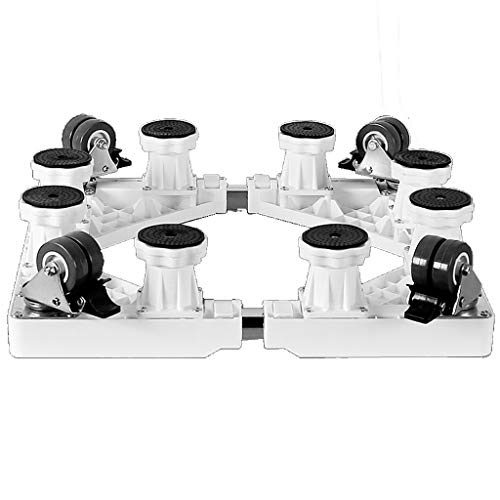 ne Bracket Base Bracket Padded Mobile Universal Wheel Universal, Adjustable Size Appliance Base with 4 Wheels 8 Strong Feet (Color : White) ()
