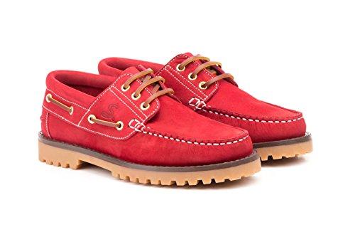 Sachini , Chaussures bateau pour femme Rouge