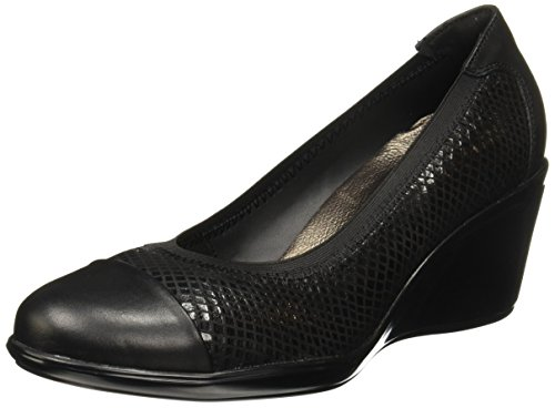 Zapatos Negro Mujer de Moana Flexi piso 45503 cuña para zSqABw