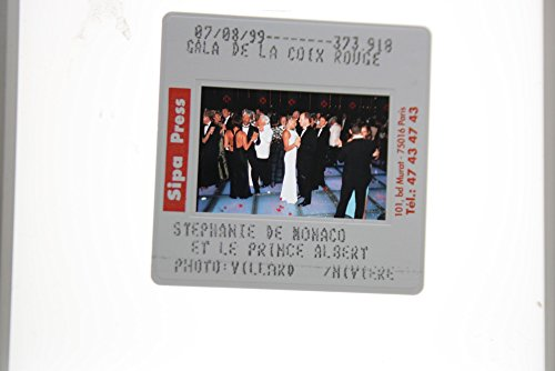 Gala Rouge - Slides photo of Prince Albert of Monaco with Princess Stephanie at the Gala Rouge