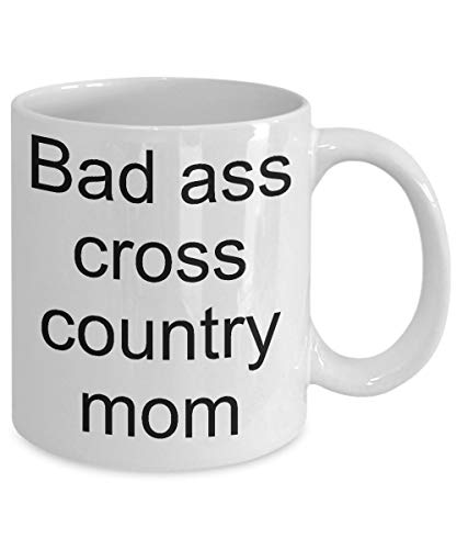 Bad ass cross country mom-Funny coffee cup-Cross country mom gift ()