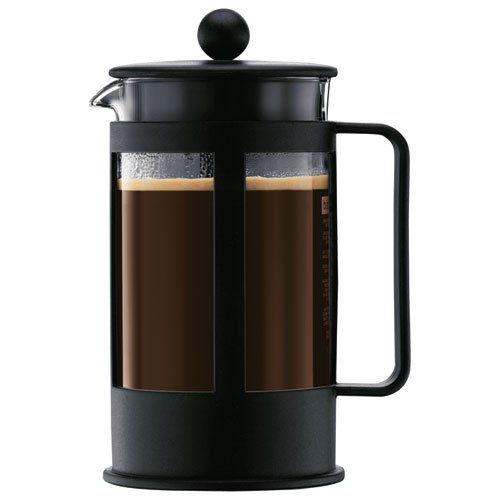 Bodum Kenya 8-Cup French Press Coffee Maker, 34-Ounce, Plastic, Black - Coffee Pigs