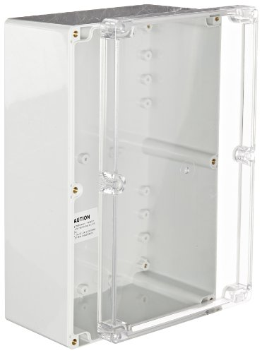 BUD Industries PN-1340-C Polycarbonate NEMA 4X Box with Clear Cover, 9-7/16